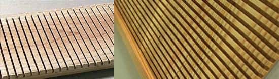 杉スリット木材表面写真